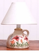 Small Ceramic Red Poppy Lamp