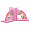 Rainbow  Bookends and Angel Clock