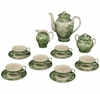 Green & White Porcelain Tea Set