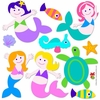 Mermaids Peel & Stick Cut Outs