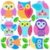 Owl Peel & Stick Cut-outs