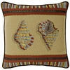 "Sea Shell 19"" Square Throw Pillow"