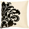 "Surya Beige/Black 18"" Throw Pillow"