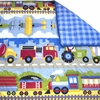 Trains, Planes & Trucks Comforter/Sham Set
