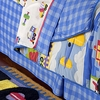 Boy's Planes Trains Trucks Bed Skirt