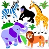 Wild Animals Peel & Stick Cut Outs