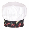 White Chef Toque w/ Color Band