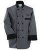 Fashion Charcoal/Black Chef Jacket