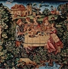 Tapestry Cushion Cover  -  Medieval Feast