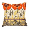 Pavots Art Nouveau  Cushion Cover