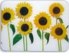 Rising Sunflowers Glass Cutting Board