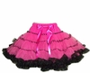 4 Layer Hot Pink and Black Pettiskirt