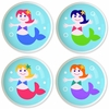 Mermaids Knobs -  Set of 4