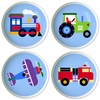 Trains Planes Trucks  - Set of 4