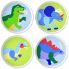 Dinosaur Land Knobs - Set of 4