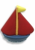 Kids' Red Sail Boat Drawer Pull
