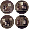 Set of 4 Wine Cellar Stone Coasters