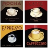 Art Nouveau Coffee Stone Coasters