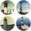 Set of 4 New Lighthouses Stone Coasters