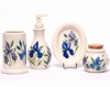 Field of Iris Designer Bathroom Set