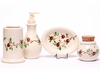 Cranberry Ceramic Bathroom Set