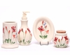 Red Poppy Designer Bathroom Set