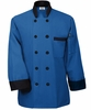 Fashion Blue with Black Trim Chef Jacket