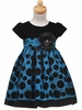 Velvet /Taffeta Polkadot Holiday Dress