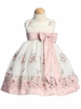 Rose Embroidered Organza Spring Dress
