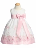 Pink Embroidered Organza Spring Dress