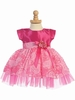 Fuchsia Taffeta and Ribbon Tulle  Dress