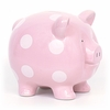 Large Pink Polka Dot Piggy Bank