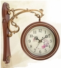 Antique Style Strip Double-Faced Clock