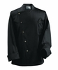 Black  Asymetrical Chef Jacket