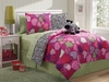 Girl's  Reversible Hearts -Zebra Bed Set