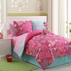 Girl's Reversible Pink Safari  Bed Set