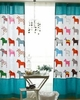 Kid's Pony Print Window Drapes