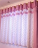 Kid's Floral Check Pattern Window Drapes