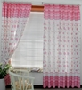 Girl's Pink Floral Window Curtains