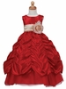 Taffeta Shirred Dress - Red
