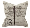 Dragonfly Script Throw Pillow