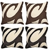Colors Swirls Throw Pillows - Set of 2