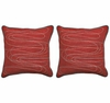 Riptide Red Throw PIllows - Set of 2