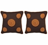 Floral Circles Set of 2 Pillows