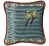 Pampered Birds Teal Throw Pillow
