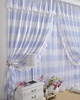 Country Blue Checks Window Curtains