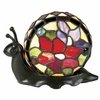 Jeweled Snail Tiffany Accent  Lamp