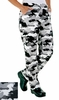 Women's  Chef Pants - Camouflage Black