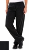 Women's Chef Pants - Pinstripe Black