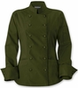 Women's  Classic Olive Chef  Jacket
